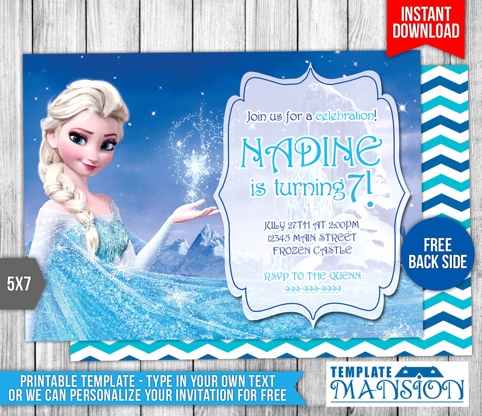 Frozen Birthday Party Invitation Template Luxury Disney Frozen Elsa Birthday Invitation by Templatemansion