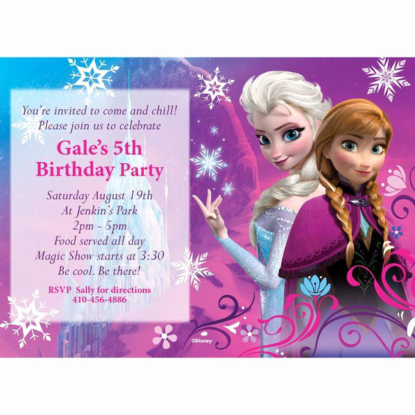 Frozen Birthday Party Invitation Template Luxury Disney Frozen Personalized Invitation Custom Invitations