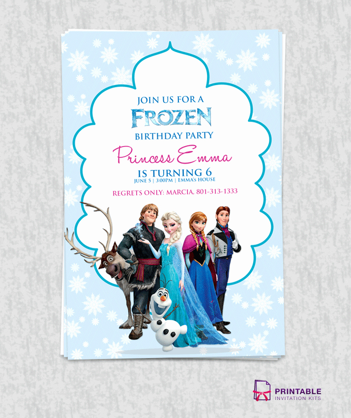 Frozen Birthday Party Invitation Template Luxury Free Frozen Birthday Invitation Template ← Wedding