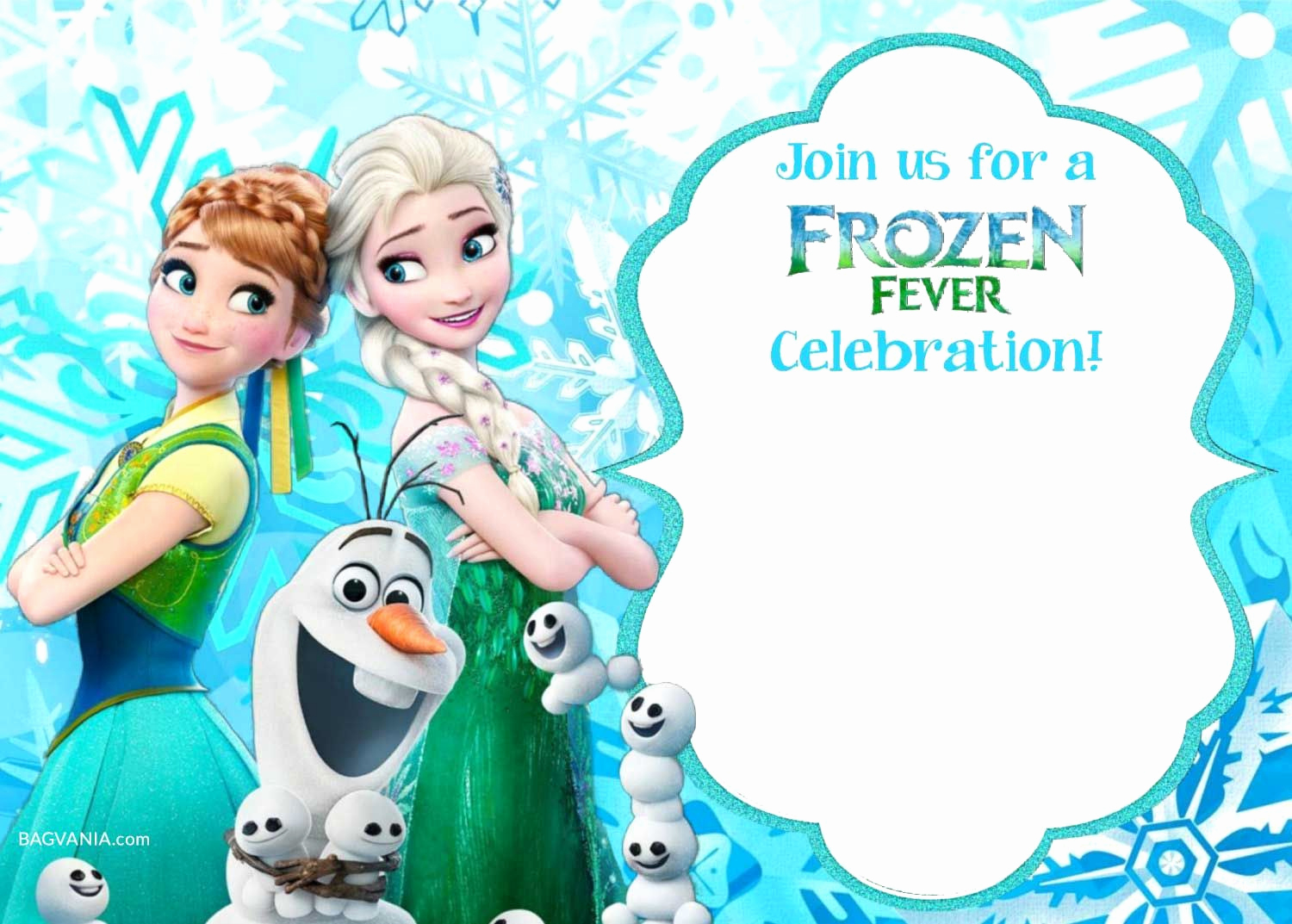 Frozen Birthday Party Invitation Template New Free Printable Frozen Invitation Templates