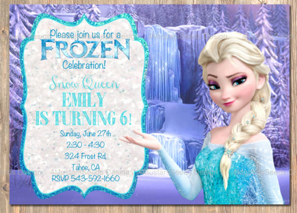 Frozen Birthday Party Invitation Template Unique 12 Frozen Birthday Invitation Psd Ai Vector Eps