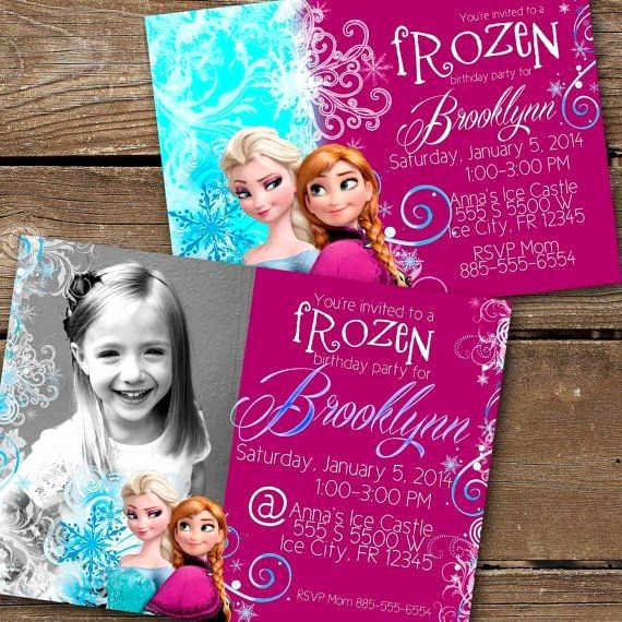 Frozen Birthday Party Invitation Template Unique 23 Best Frozen Party Invitation Images On Pinterest