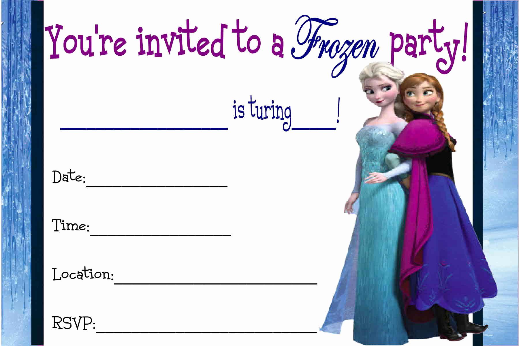 Frozen Invitation Printable Free Beautiful Free Printable Disney Frozen Invitations