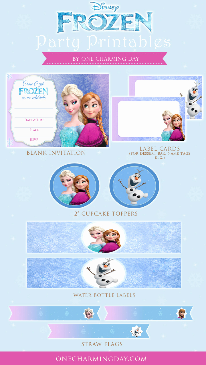 Frozen Invitation Printable Free Best Of Free Frozen Party Printables E Charming Day