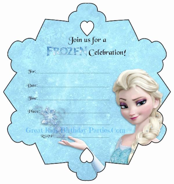Frozen Invitation Printable Free Best Of Frozen Party
