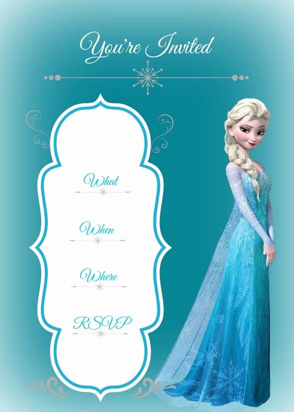 Frozen Invitation Printable Free Elegant Frozen Birthday Party Busy Mom S Helper