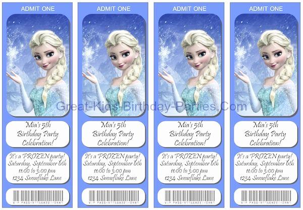 Frozen Invitation Printable Free Inspirational Frozen Invitations Free Printable Ticket Invitations You