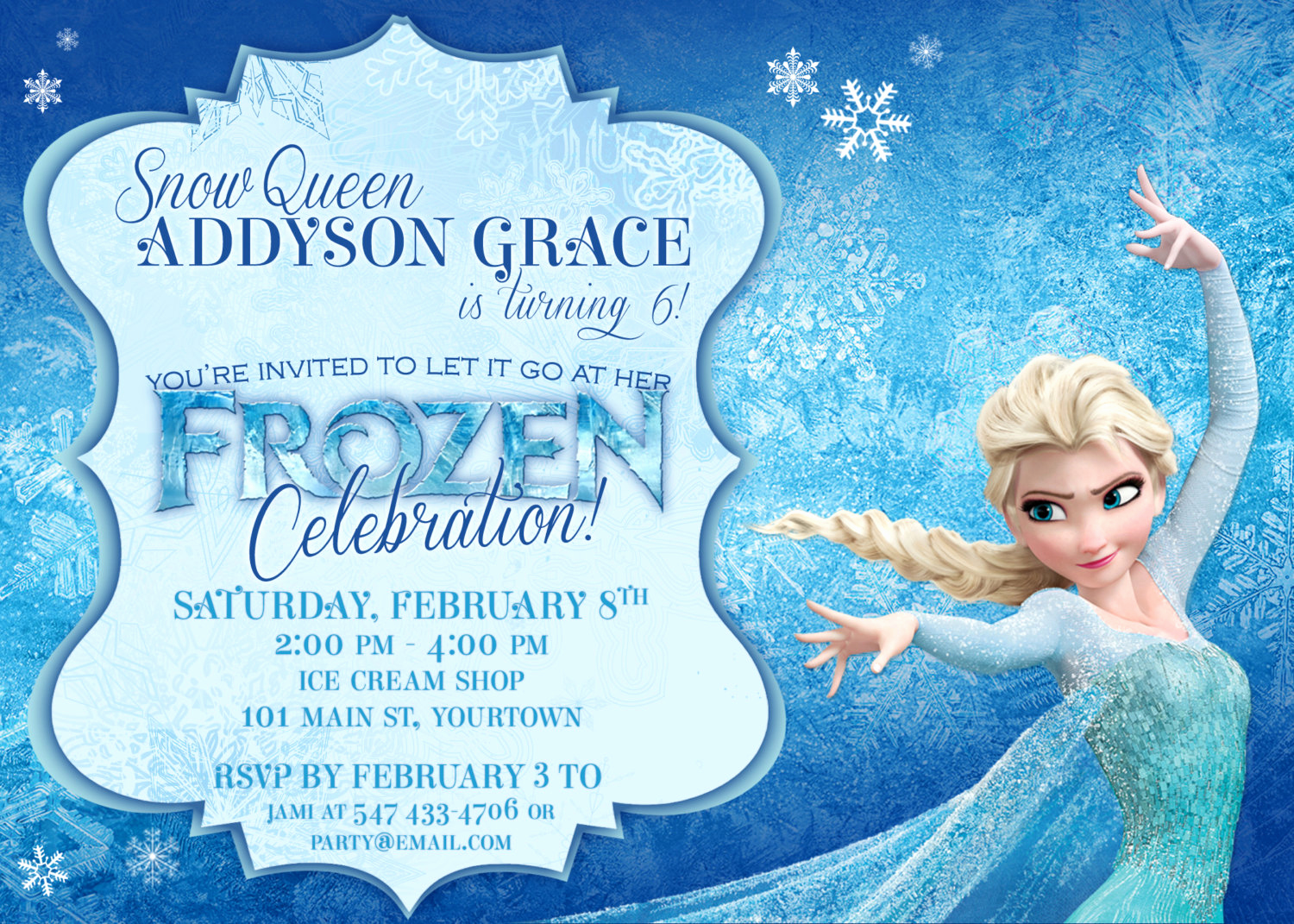 Frozen Invitation Printable Free Inspirational Frozen themed Party Invitations Printable Pdfs Elsa and