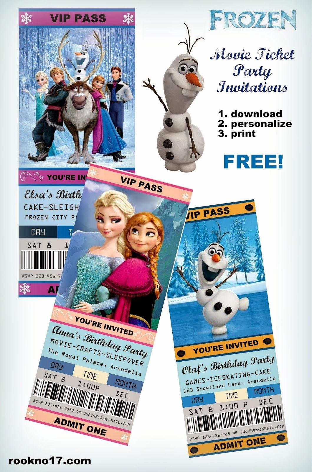 Frozen Invitation Printable Free Lovely Free Frozen Invitations On Pinterest