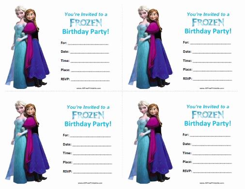 Frozen Invitation Printable Free New Frozen Birthday Invitations Free Printable