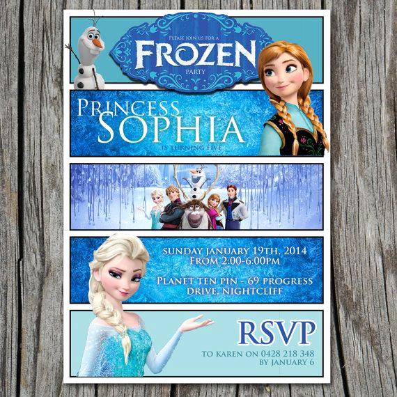 Frozen Invitation Printable Free Unique Disney S Frozen Birthday Invitation 5x7 Party