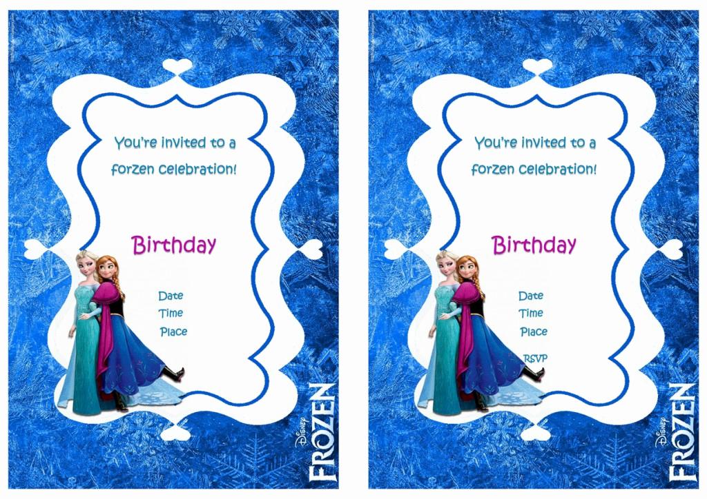Frozen Invitation Printable Free Unique Frozen Birthday Invitations