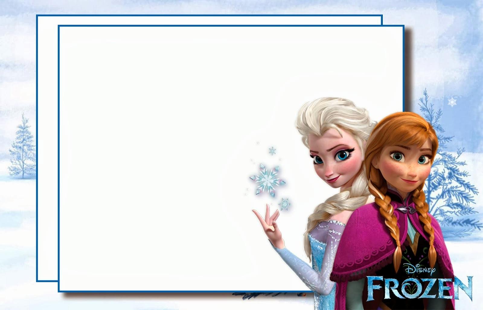 Frozen Invitation Printable Free Unique Frozen Party Free Printable Invitations