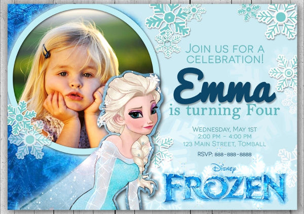 Frozen Invitation Template Free Awesome 13 Frozen Invitation Templates Word Psd Ai