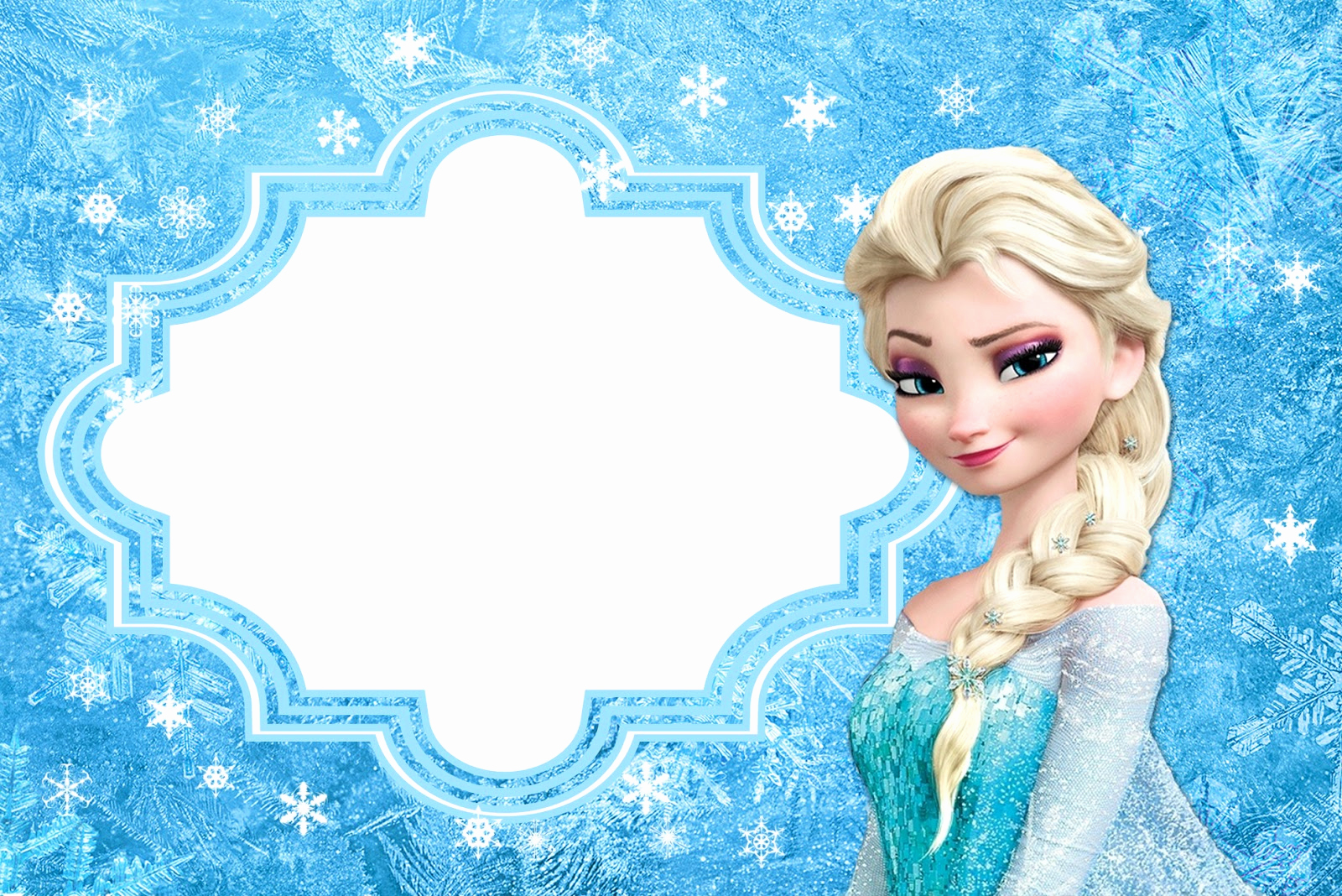 Frozen Invitation Template Free Beautiful Frozen Free Printable Cards or Party Invitations Oh My