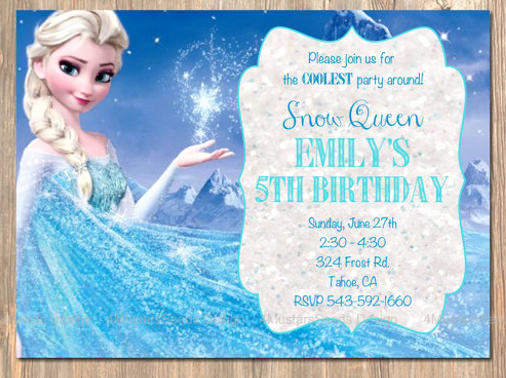 Frozen Invitation Template Free Download Awesome 12 Frozen Birthday Invitation Psd Ai Vector Eps