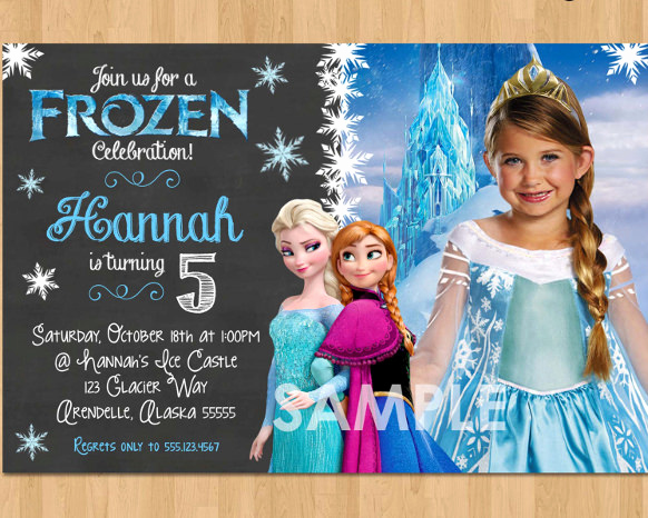Frozen Invitation Template Free Download Beautiful 12 Frozen Birthday Invitation Psd Ai Vector Eps
