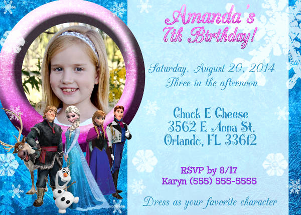 Frozen Invitation Template Free Download Beautiful 13 Frozen Invitation Templates Word Psd Ai