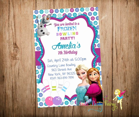 Frozen Invitation Template Free Download Elegant 7 Free Sample Bowling Game Invitation Templates