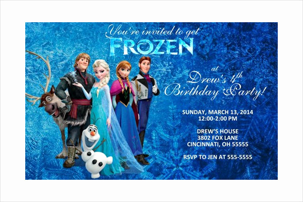Frozen Invitation Template Free Download Inspirational 13 Frozen Invitation Templates Word Psd Ai