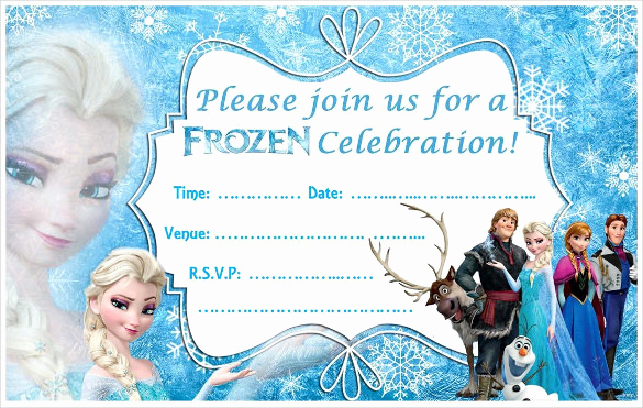 Frozen Invitation Template Free Download Lovely 24 Heartwarming Frozen Birthday Invitations