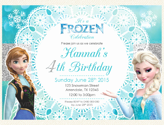 Frozen Invitation Template Free Download New 12 Frozen Birthday Invitation Psd Ai Vector Eps