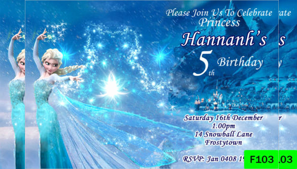 Frozen Invitation Template Free Download Unique 24 Frozen Birthday Invitation Templates Psd Ai Vector