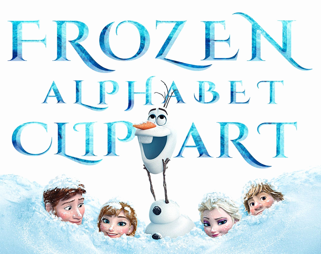 Frozen Invitation Template Free Download Unique Sale Frozen Alphabet Clipart 40 Png Printable Frozen