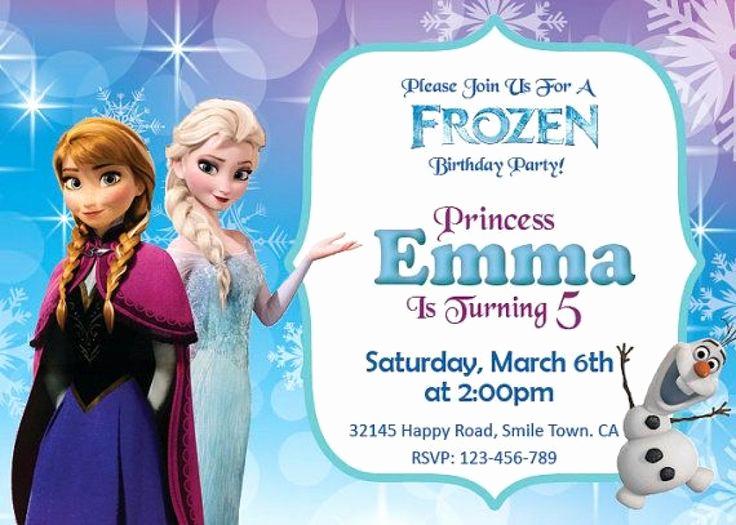 Frozen Invitation Template Free Fresh 25 Best Ideas About Free Frozen Invitations On Pinterest
