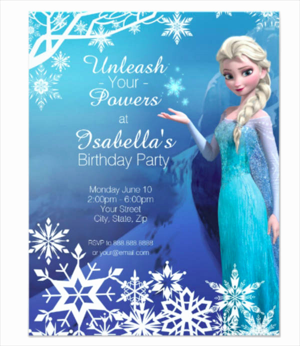 Frozen Invitation Template Free Inspirational 9 Frozen Party Invitation Templates Psd Ai Vector Eps
