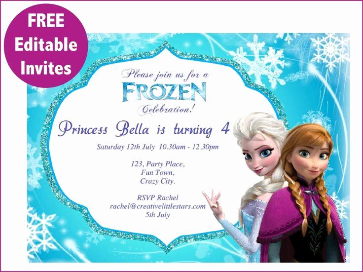 Frozen Invitation Template Free Lovely Best 25 Free Frozen Invitations Ideas On Pinterest