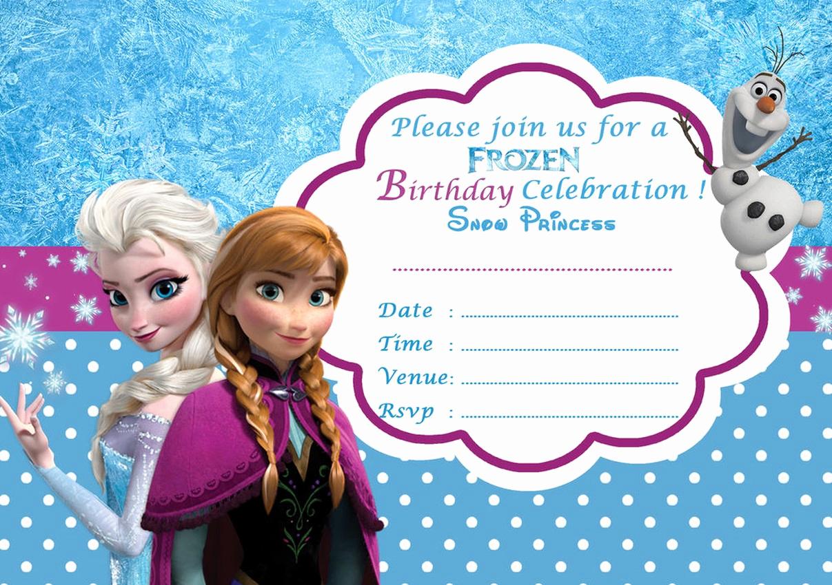 Frozen Invitation Template Free Lovely Frozen Free Printable Invitation Templates