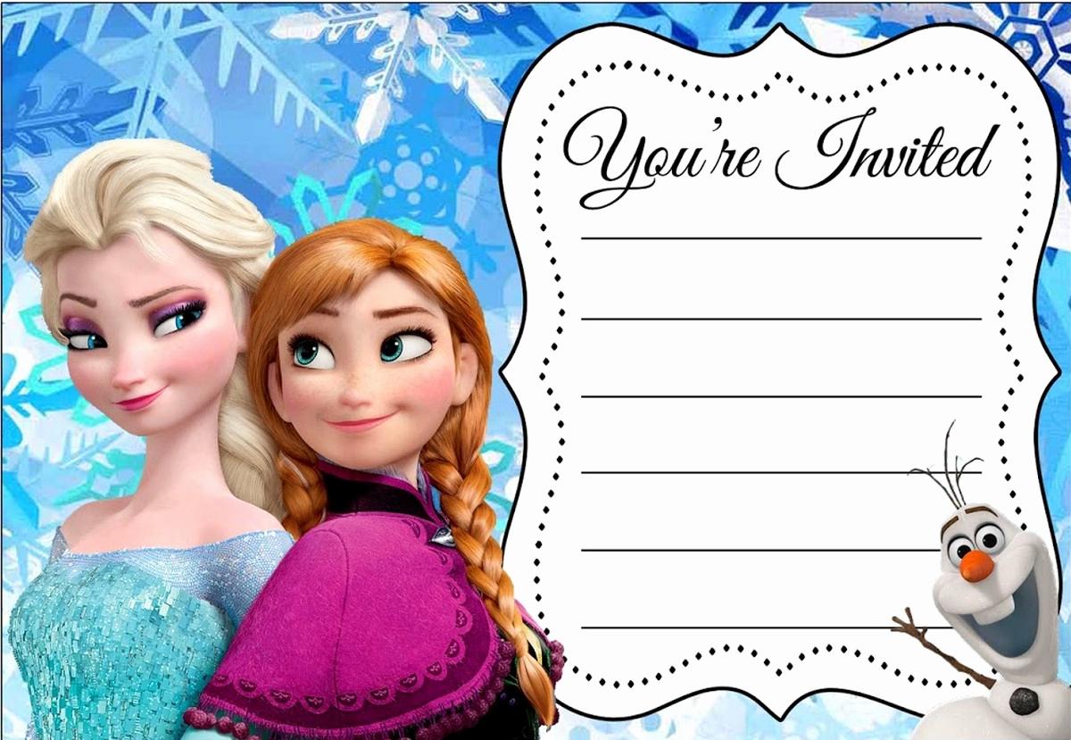 Frozen Invitation Template Free Luxury 24 Heartwarming Frozen Birthday Invitations