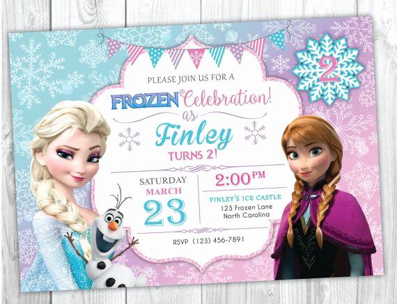 Frozen Invitation Template Free Luxury Frozen Birthday Invitation Printable Frozen Birthday