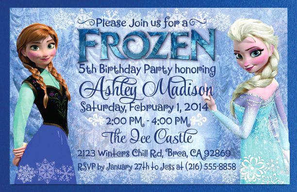 Frozen Invitation Template Free New Frozen theme Invitations