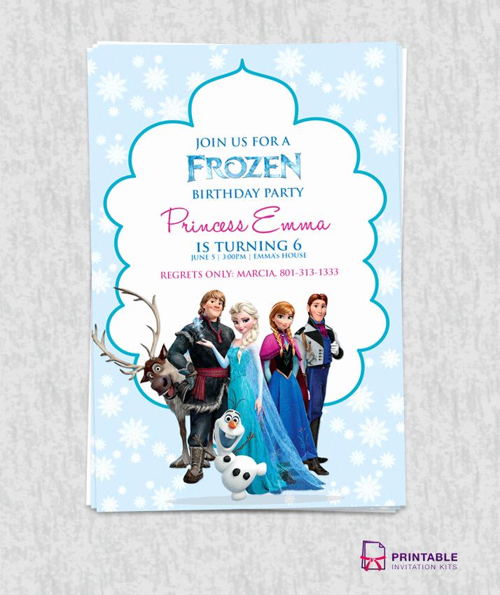 Frozen Invitation Template Free Unique Printable Elsa From Frozen