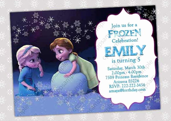 Frozen Invitation Templates Free Fresh 12 Frozen Birthday Invitation Psd Ai Vector Eps