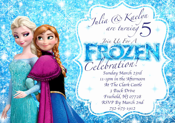 Frozen Invitation Templates Free Inspirational 13 Frozen Invitation Templates Word Psd Ai