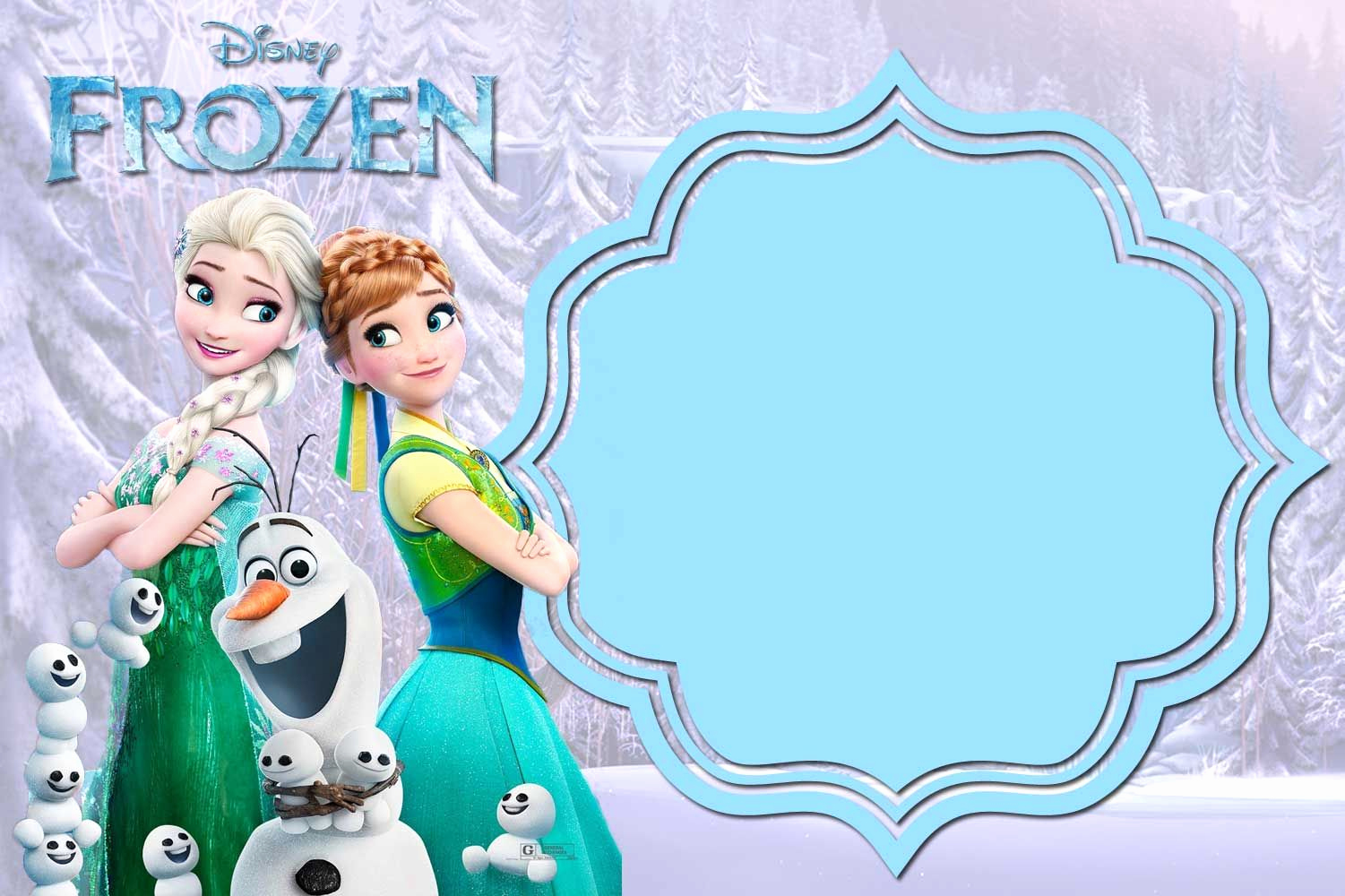 Frozen Invitation Templates Free Inspirational Free Printable Frozen Anna and Elsa Invitation
