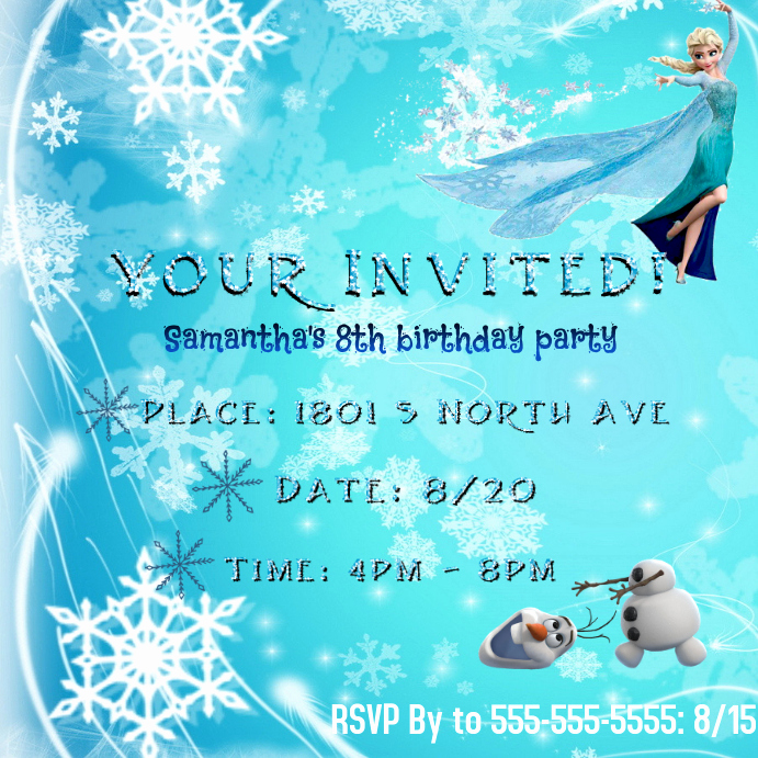 Frozen Invitation Templates Free Inspirational Frozen Invitation Template