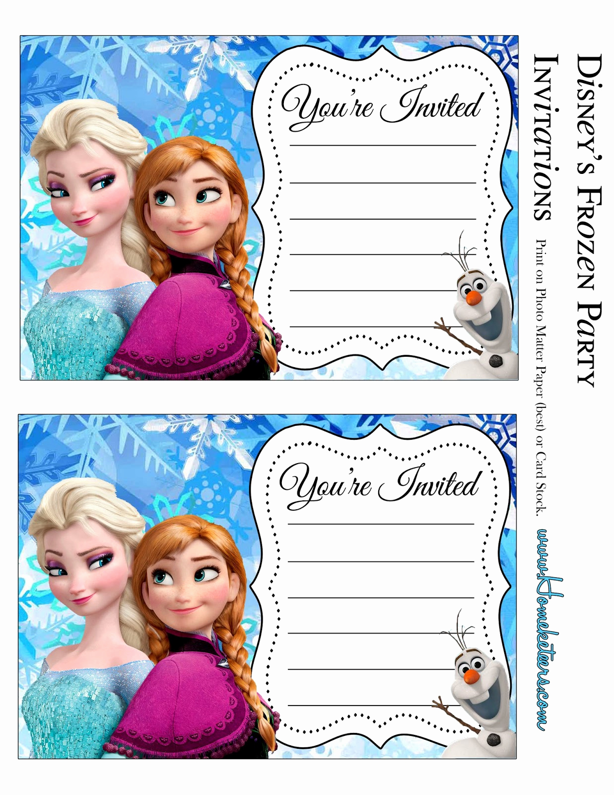 Frozen Invitation Templates Free Lovely Frozen Party Free Printable Invitations