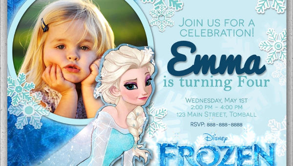 Frozen Party Invitation Template Awesome 13 Frozen Invitation Templates Word Psd Ai