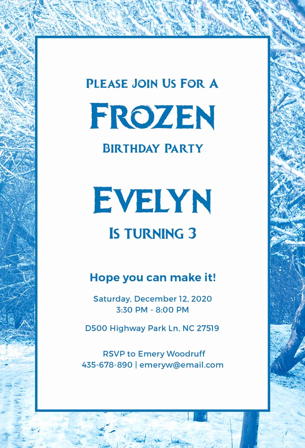 Frozen Party Invitation Template Beautiful 9 Frozen Party Invitation Templates Free Editable Psd