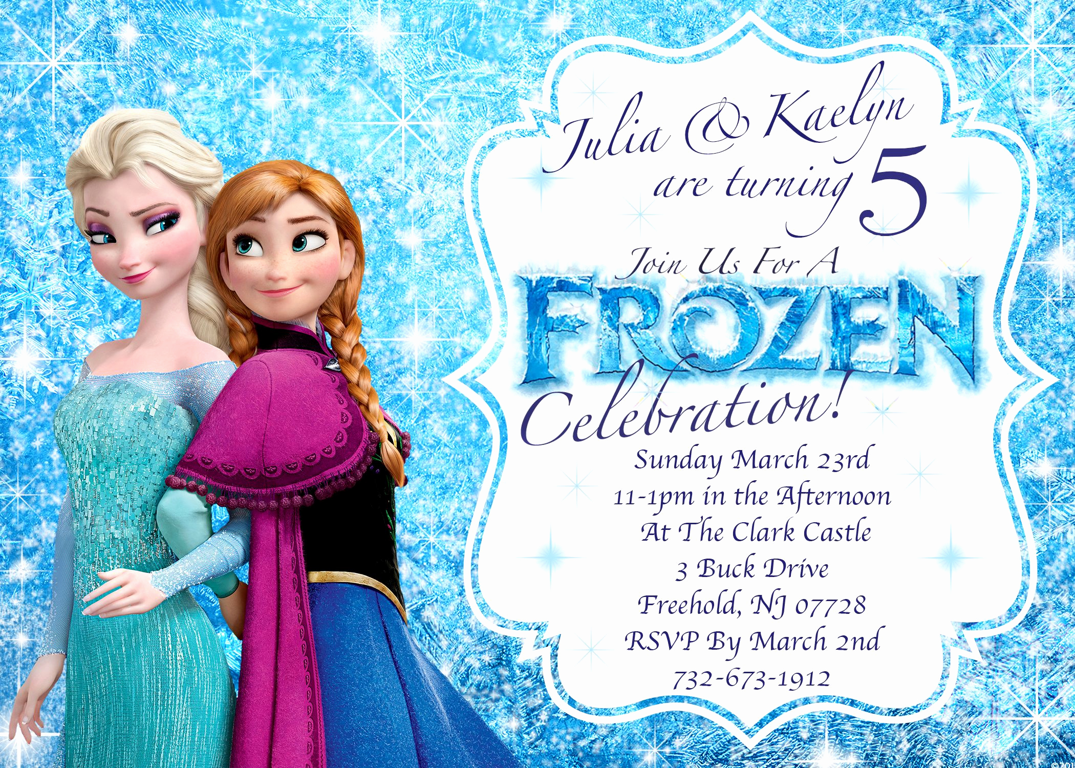 Frozen Party Invitation Template Elegant Frozen Invitations