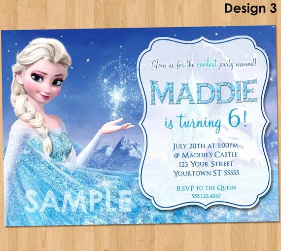 Frozen Party Invitation Template Fresh Frozen Birthday Invitation Elsa Frozen Invitation