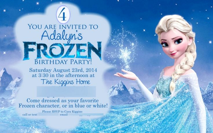 Frozen Party Invitation Template Lovely 25 Best Ideas About Free Frozen Invitations On Pinterest