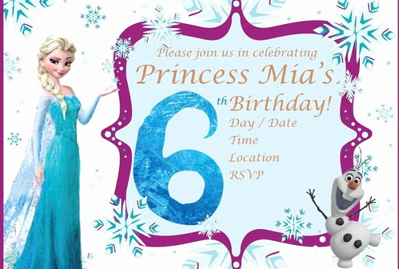 Frozen Party Invitation Template Luxury Elsa Frozen Birthday Party Invitation Ideas – Free