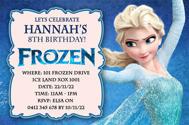 Frozen Party Invitation Template Luxury Frozen Birthday Party Invitations – Free Printable