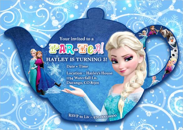 Frozen Party Invitation Template New 23 Frozen Birthday Invitation Templates Psd Ai Vector