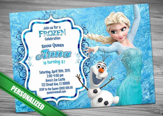 Frozen Party Invitation Template Unique 25 Best Ideas About Disney Frozen Invitations On